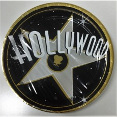 Round Hollywood Metallic Banquet Plates 27cm Pack of 8