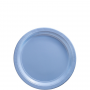 Round Pastel Blue Paper Dinner Plates 23cm Pack of 20