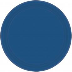 Round Navy Flag Blue Paper Dinner Plates 23cm Pack of 20