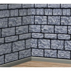 Grey Party Decorations - Scene Setter Stone Wall