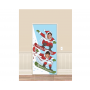 Christmas Santa Snowboarding Banner Photo Prop