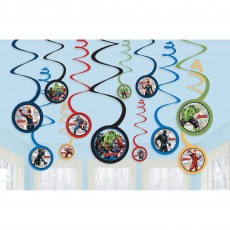 Avengers Party Decorations - Hanging Decorations Powers Unite Spiral