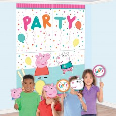 Peppa Pig Party Decorations - Scene Setters Confetti Party Photo Prop