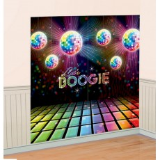 Disco & 70's Decorating Kits Disco Fever Scene Wall Decorations Pack of 2