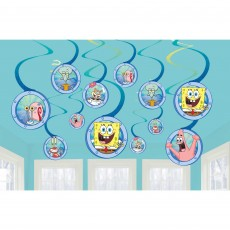 SpongeBob Party Decorations - Hanging Decorations Spiral Swirls