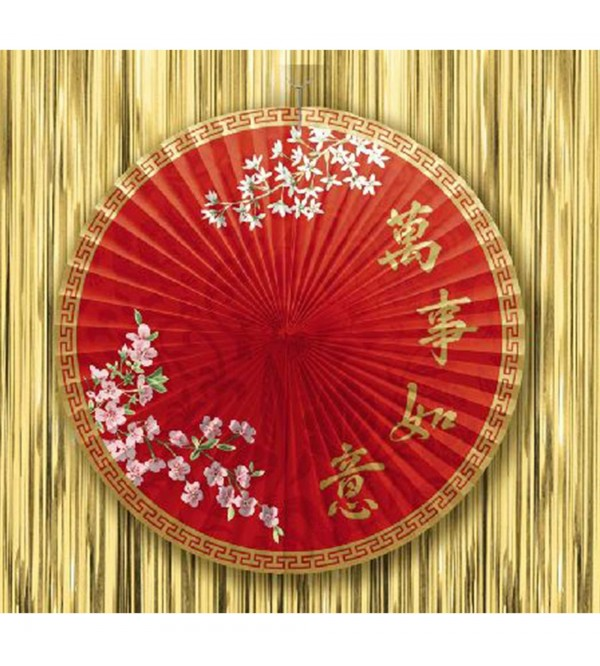 Chinese New Year Paper Parasol Misc Decoration 40cm