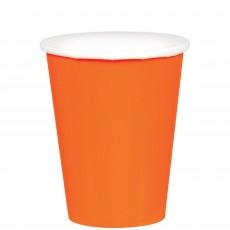 Orange Paper Cups 266ml Pack of 20