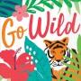 Hawaiian Luau Tropical Jungle Go Wild Beverage Napkins Pack of 36
