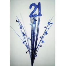 Blue 21st Birthday Onion Pick Spangle