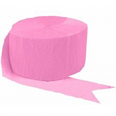Pink Crepe Streamer 24m