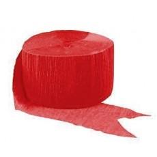 Red Crepe Streamer 24m