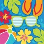 Hawaiian Luau Summer Splash Lunch Napkins 33cm x 33cm Pack of 36
