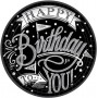 Round Hooray Happy Birthday to You! Dinner Plates 23cm Pack of 18