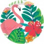 Round Hawaiian Luau Tropical Jungle Lunch Plates 17cm Pack of 18