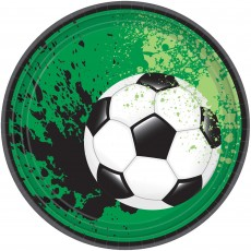 Soccer Party Supplies - Lunch Plates Goal Getter