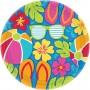 Round Hawaiian Summer Splash Lunch Plates 17cm Pack of 18