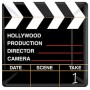 Square Hollywood Directors Cut Lunch Plates 17cm Pack of 18