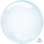 Round Blue Crystal Clearz Shaped Balloon 50cm