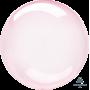 Round Dark Pink Crystal Clearz Shaped Balloon 50cm