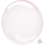 Round Light Pink Crystal Clearz Shaped Balloon 50cm