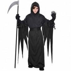 Black Halloween Terror Robe Adult Costume