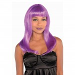 Electra Purple Wig Head Accessory
