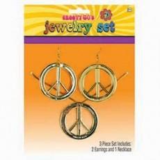Feeling Groovy & 60's Peace Set Jewellery Pack of 3