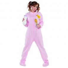 Pink Jammies Onesie Adult Costume Standard Size