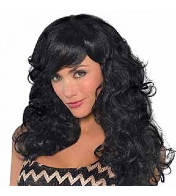 Black Fabulous Wig Head Accessory