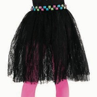Awesome 80's Women Costumes Black Lace Skirt