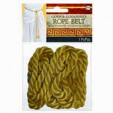 Gold Rope Belt Costume Accessory Adult Size