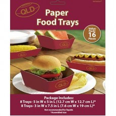 State of Origin Trays Pack of 16 QLD Hot Dogs & Pie Holders