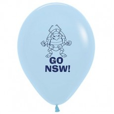 Teardrop Pale Blue State of Origin NSW Cockroach Go NSW! Latex Balloons 30cm Pack of 25