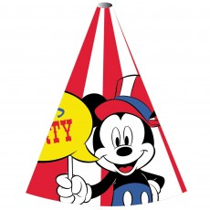 Disney Mickey Carnival Cone Party Hats 15cm Pack of 8