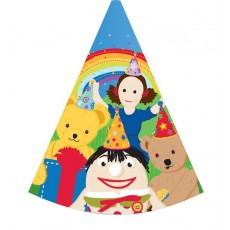 Play School Cone Party Hats 15cm Pack of 8