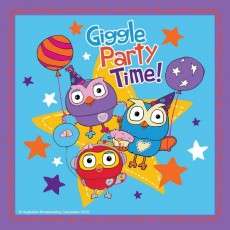Giggle & Hoot Lunch Napkins 33cm x 33cm Pack of 16