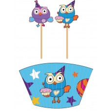 Giggle & Hoot Picks & Cupcake Cases Pack of 48