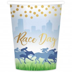 Horse Racing Race Day Paper Cups 266ml Pack of 8