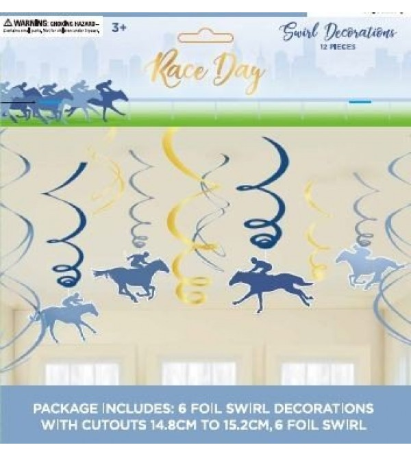 Horse Racing Race Day Hanging Decorations Pack of 12