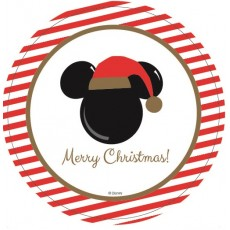 Round Disney Christmas Lunch Plates 17cm Pack of 6
