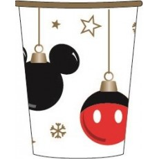 Disney Christmas Paper Cups 266ml Pack of 6
