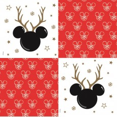 Disney Christmas Lunch Napkins Pack of 12