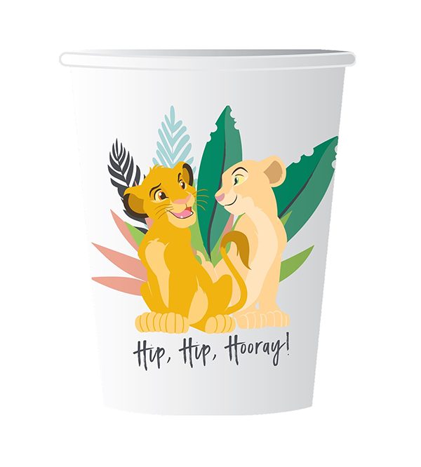 Lion King Hip, Hip, Hooray! Paper Cups 266ml Pack of 8