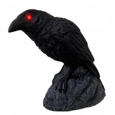 Halloween Party Decorations - Animatronic Animated Head Turning Crow