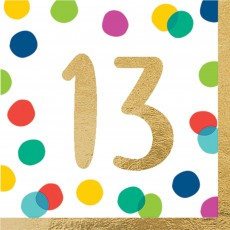Dots Party Supplies - Lunch Napkins Happy Dots 13