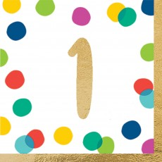 Dots Party Supplies - Lunch Napkins Happy Dots 1
