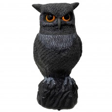 Halloween Party Decorations - Animatronic Animated Head Turning Owl