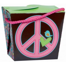 Hippie Chick Paper Pint Party Food Pail