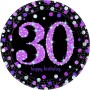Round 30th Birthday Pink Celebration Dinner Plates 23cm Pack of 8