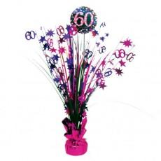 60th Birthday Pink Celebration Spray Centrepiece